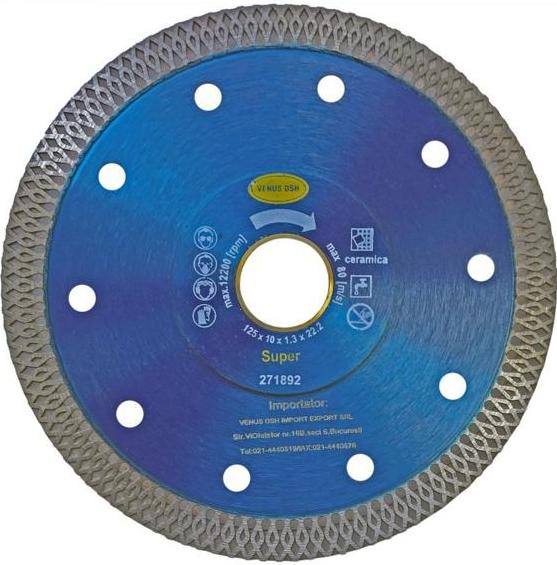 DISC DIAMANTAT PENTRU CERAMICA - 115 X 1.3 X 10 X 22.23 MM 271885