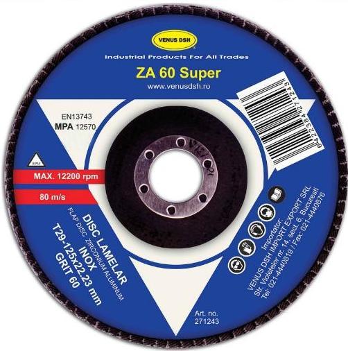 DISC LAMELAR FRONTAL INOX T29 - 125x22.23 MM, GR.120 271267