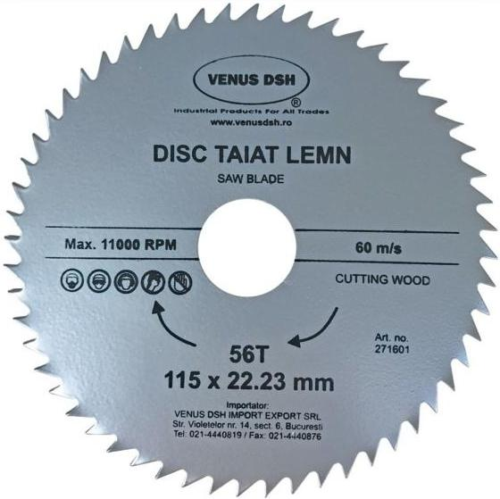 DISC TAIAT LEMN 115 X 22.23 MM - 56 T 271601