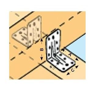 Coltar cu nervura vopsit alb electrostatic  Cod articol: AF.CN70VS