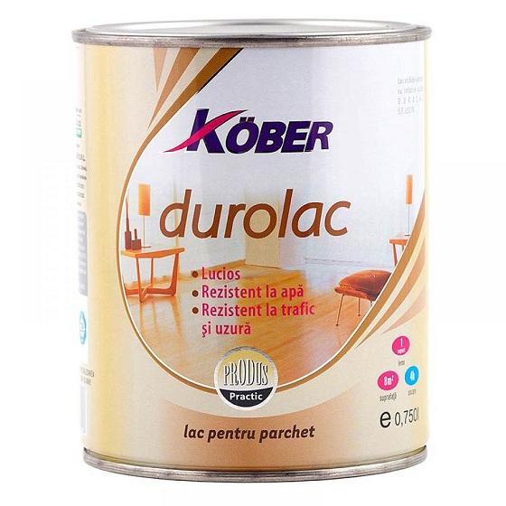 Lac parchet si mobila bicomponent Durolac 0.75 l Kober L5210-2-C0.75L