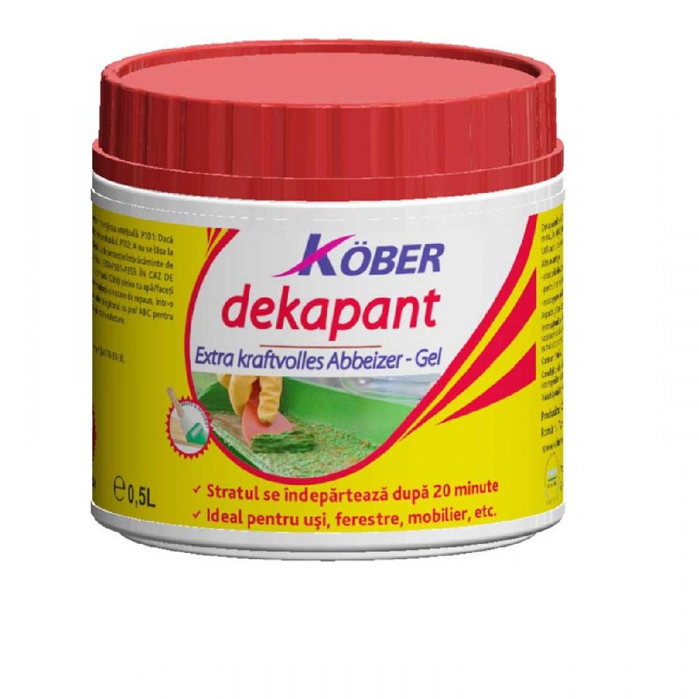 Solutie curatat vopsea Dekapant Gel 0.5 l Kober DK500-F0.5