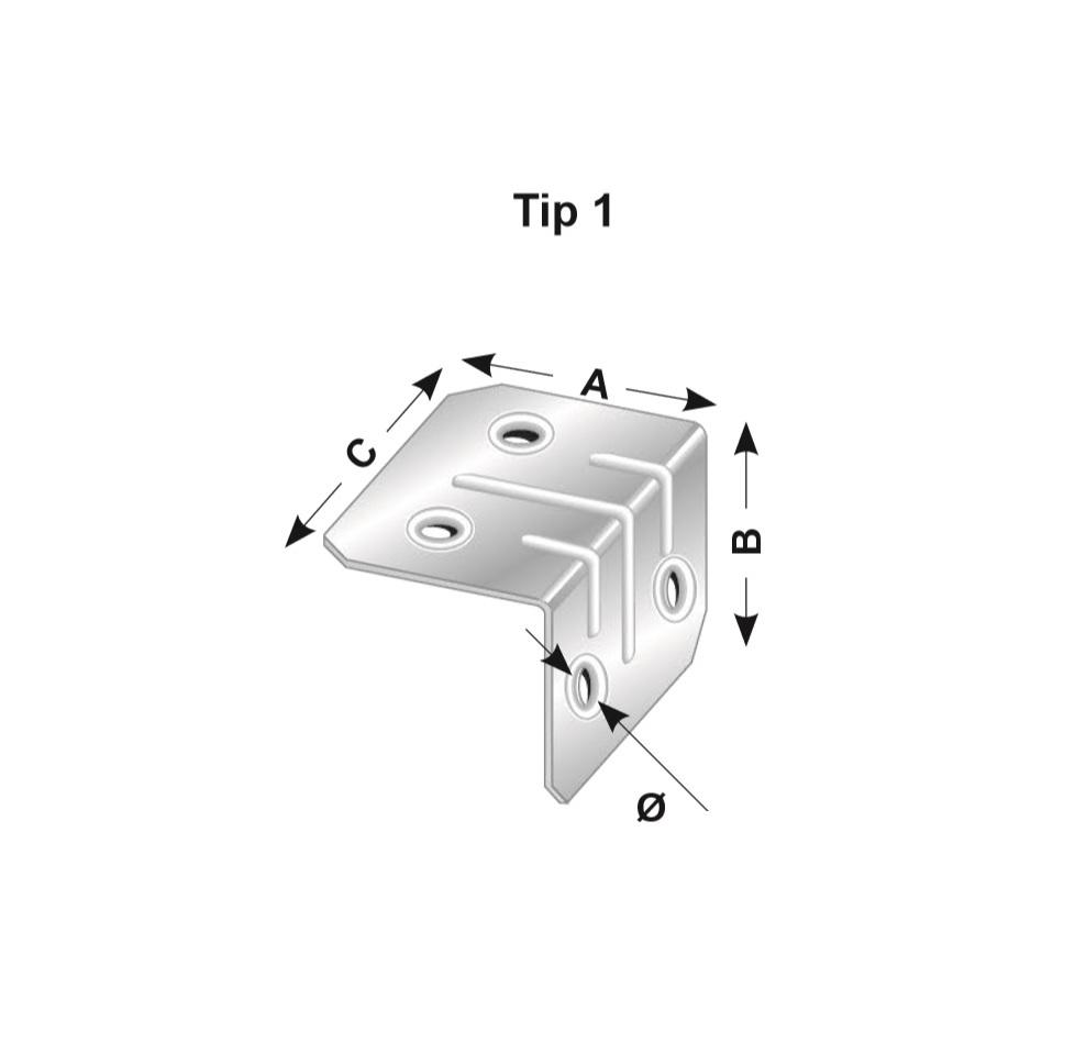 Coltar zincat, Tip 1, Cod Produs: AF.TC103S