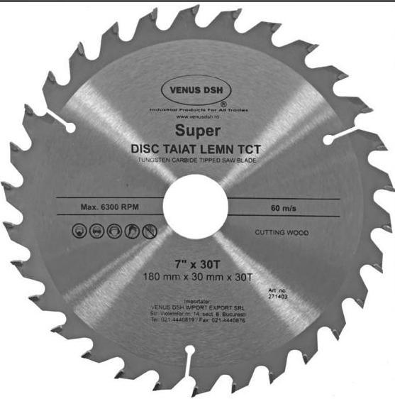 DISC TAIAT LEMN TCT - 7