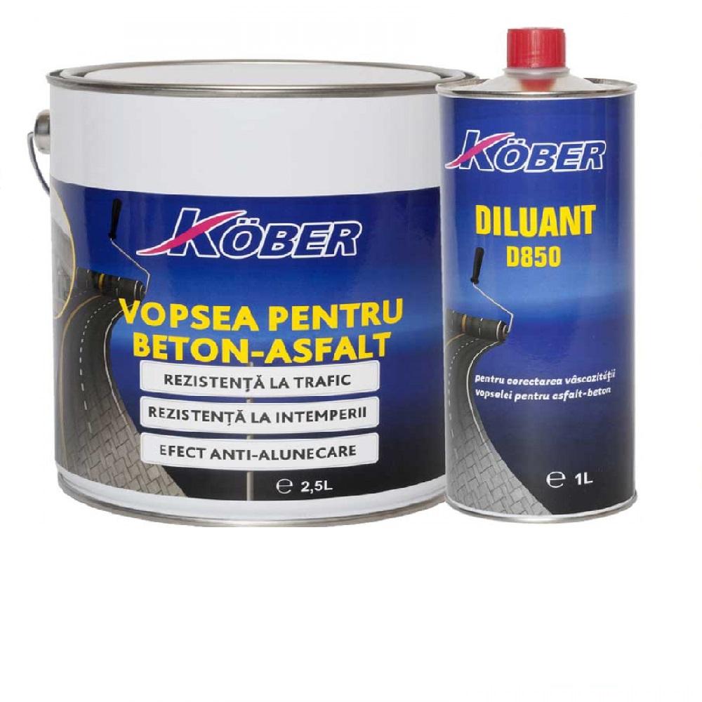 Vopsea pentru beton sau asfalt Kober 2.5l GALBEN V801023-C2.5L