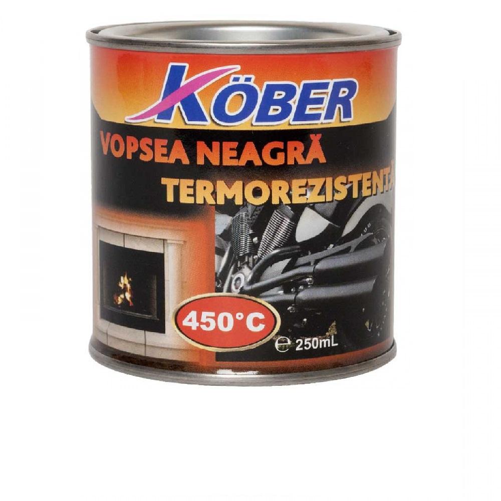 Vopsea termorezistenta 450 C Kober 200 ml Negru  V65900T-C0.2L
